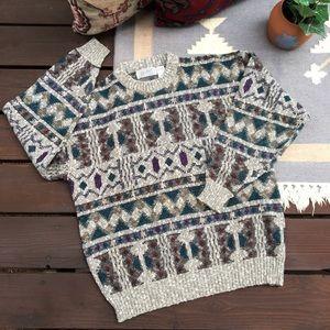 Vintage Chunky Knit Oversize Grandpa Sweater